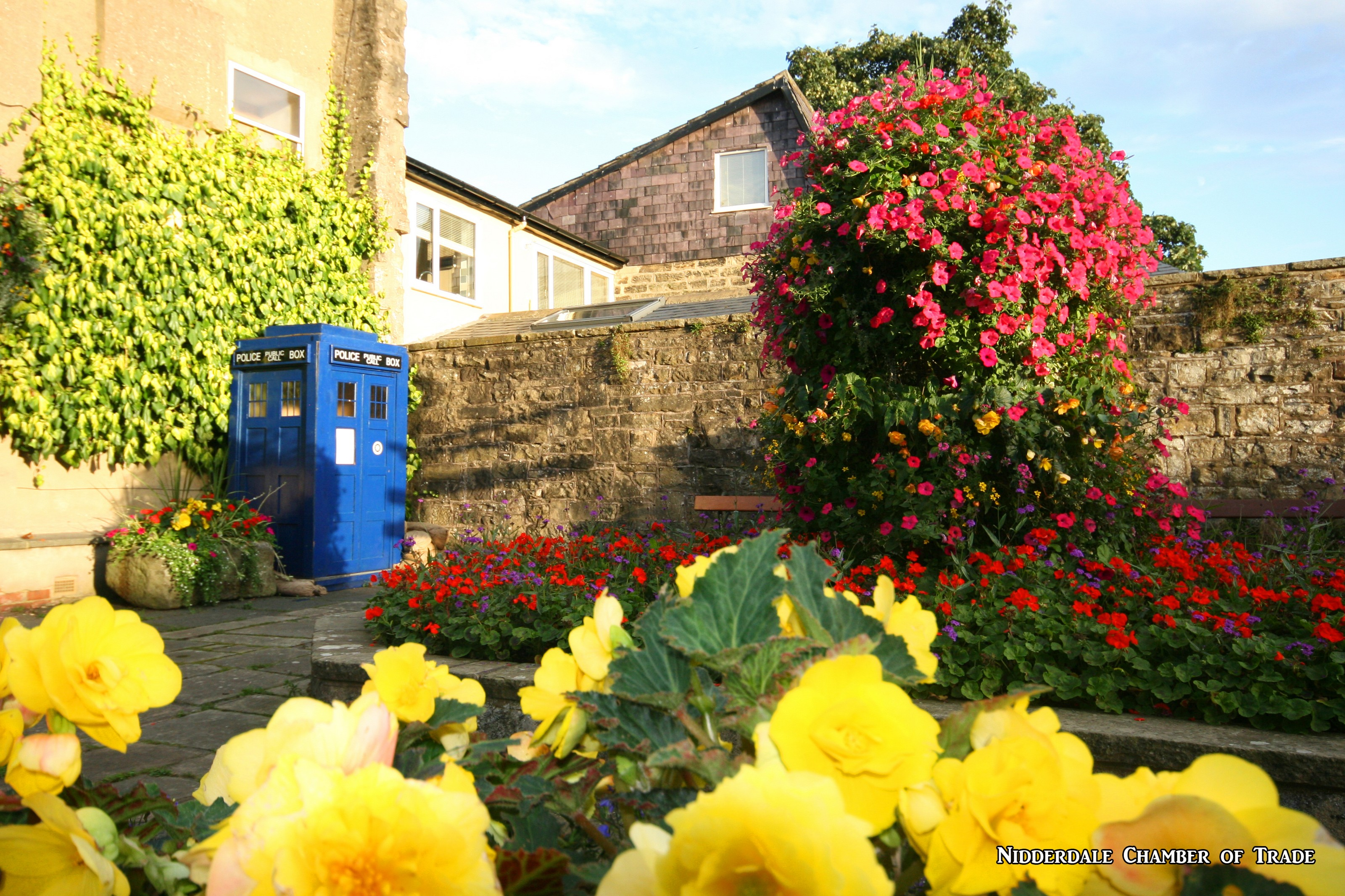 Floral Display with 1940s Police Box
