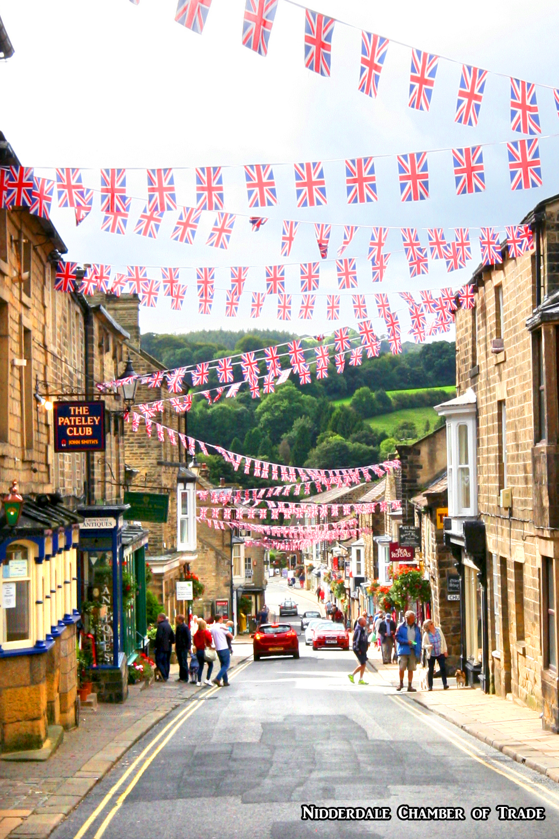 looking down with bunting Chamber of Trade