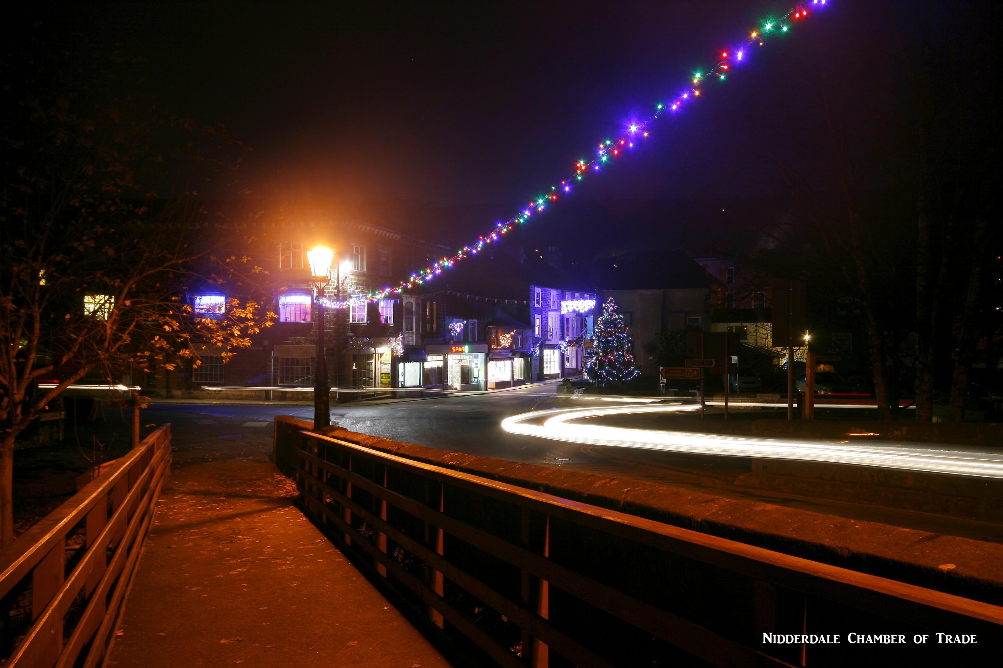 nightime from bridge