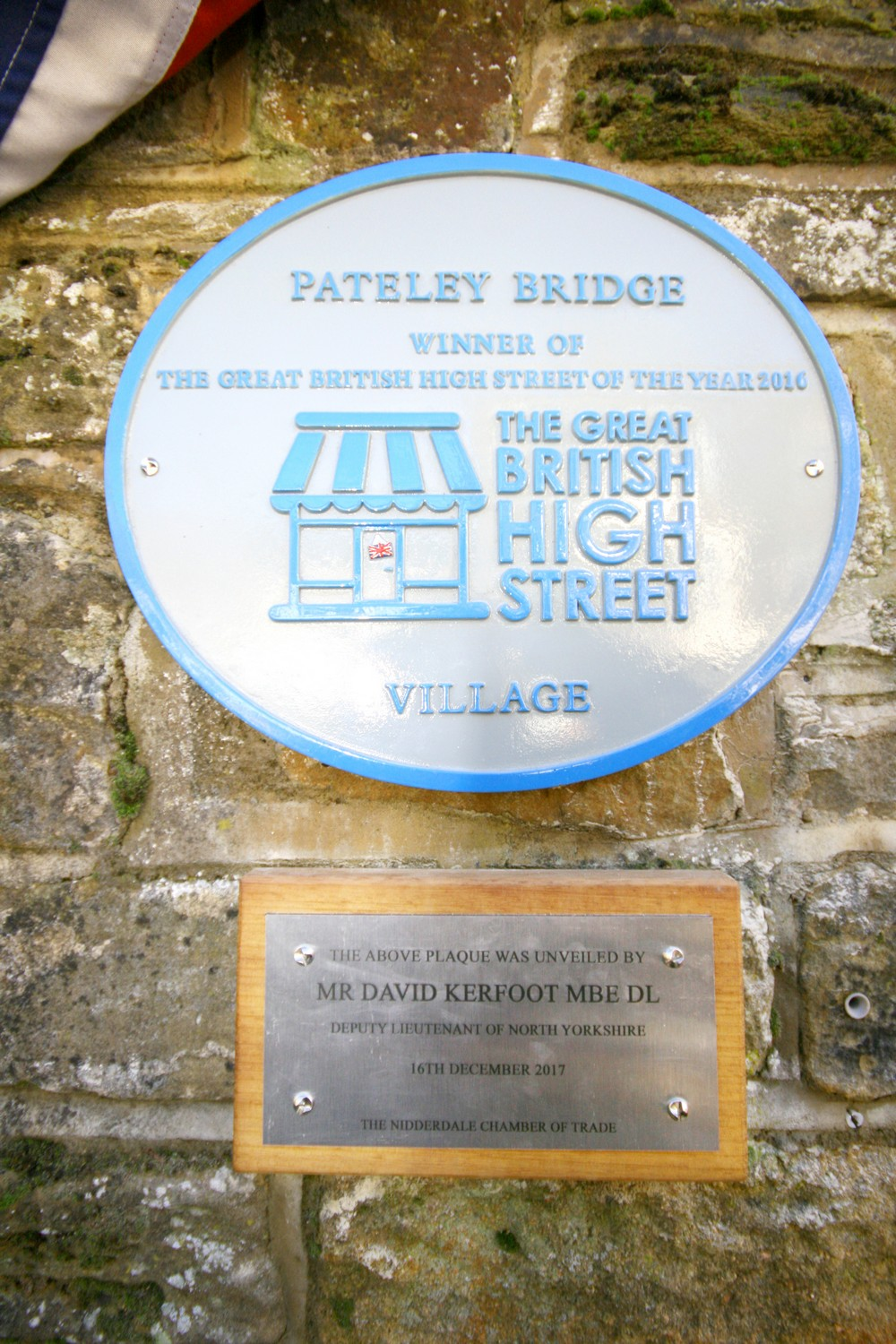 GB High Street Award - Winning Plaque